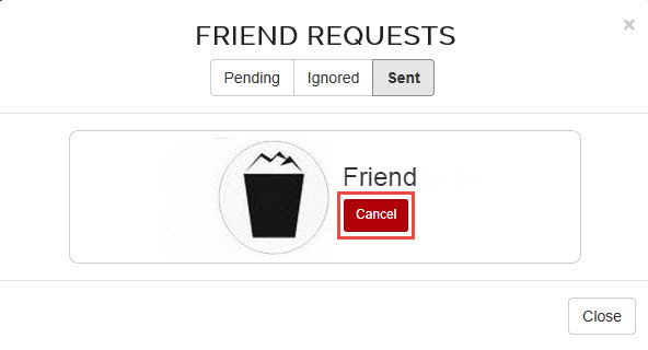Sent friend request