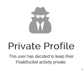 Private profile to a visitor
